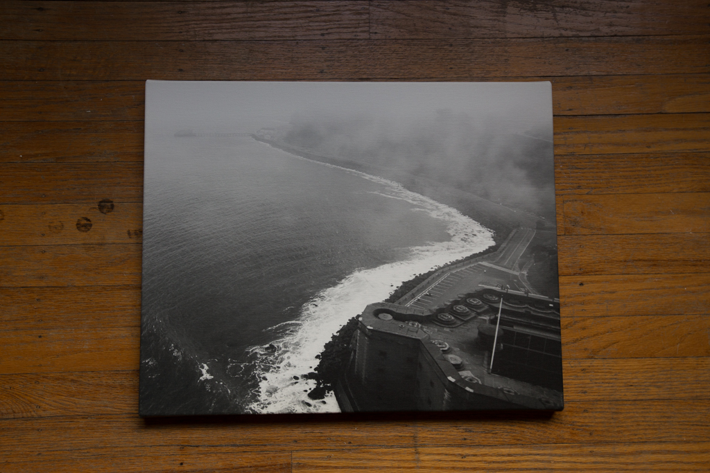 "Fort Point 16""x20"" Wrapped Canvas Print $80"