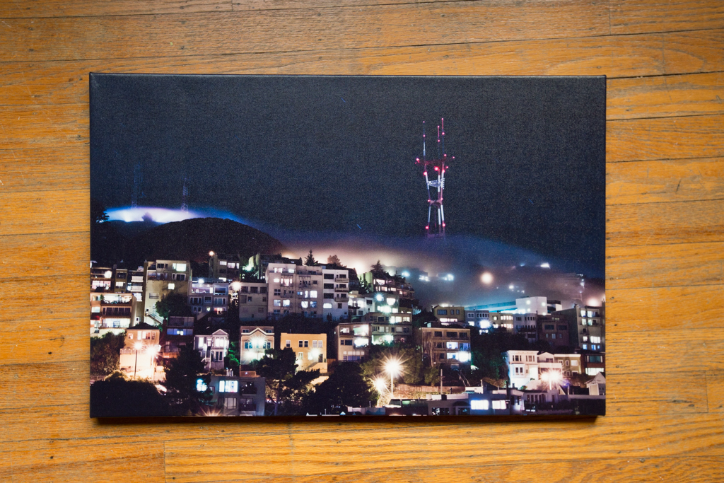 "Sutro Stands Above 16""x24"" Wrapped Canvas Print $100"