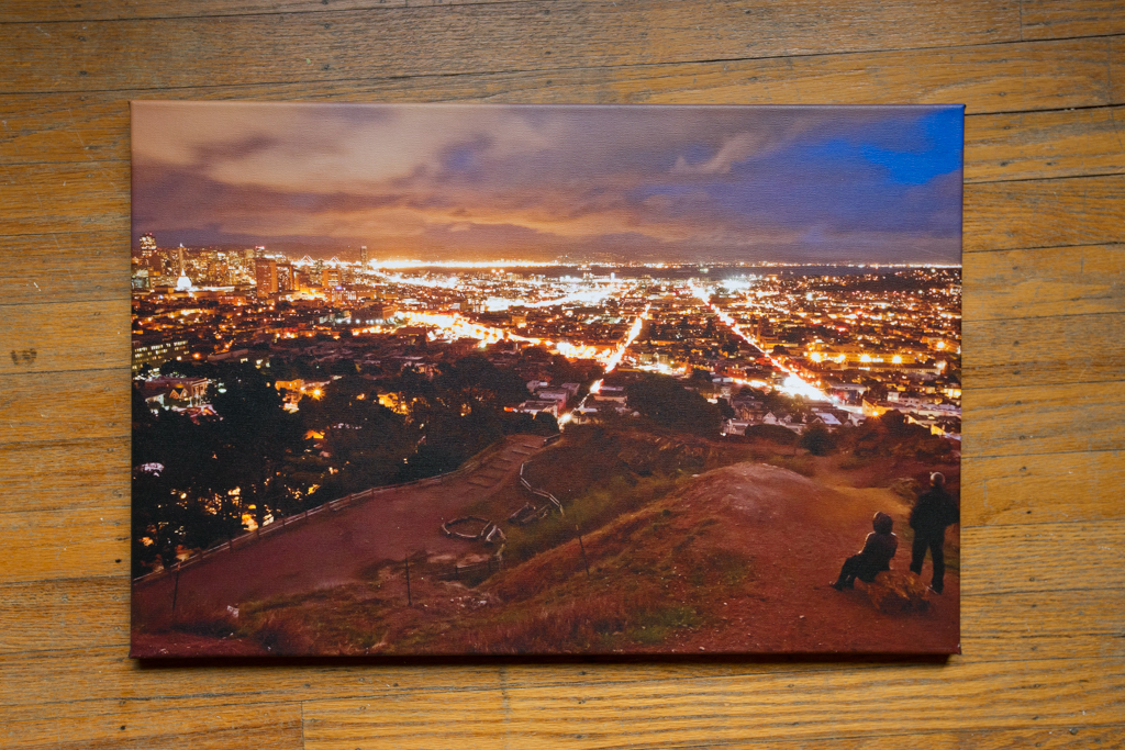 "Corona Heights 16""x24"" Wrapped Canvas Print $100"