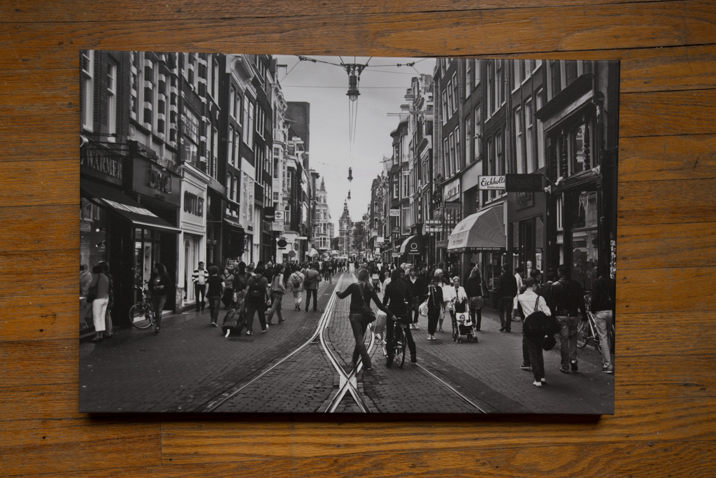 "Amsterdam 18""x24"" Wrapped Canvas Print $125"