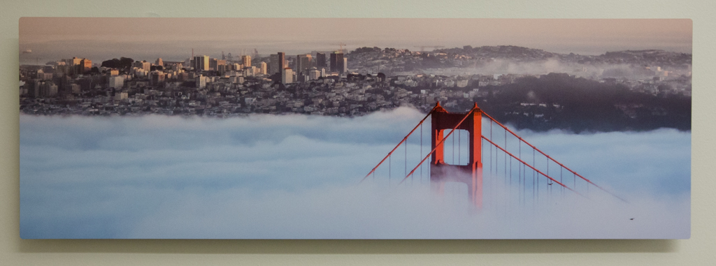 "Golden Gate 8""x24"" Metal Print $200"