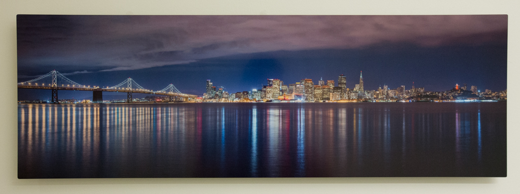 "City by the Bay 12""x36"" Metal Print $600"